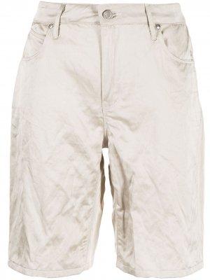 Атласные шорты RtA. Цвет: коричневый