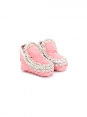Пинетки с плетением Mou Kids. Цвет: розовый