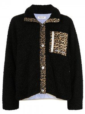 Куртка Moon с леопардовыми вставками Sandy Liang. Цвет: черный
