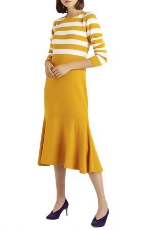 Платье BGN. Цвет: желтый