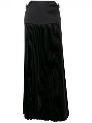 Плиссированная юбка А-силуэта Alexandre Vauthier. Цвет: черный