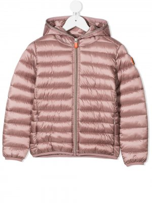Padded zip coat Save The Duck Kids. Цвет: розовый