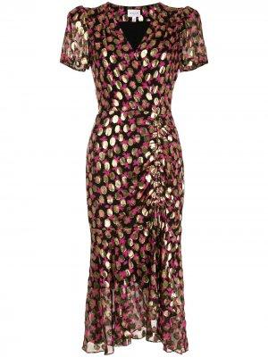 Платье Gynn с люрексом Milly. Цвет: черный