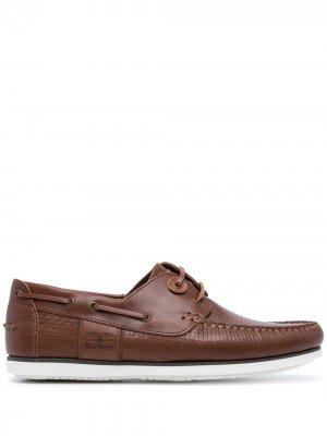 Топсайдеры на шнуровке Barbour. Цвет: коричневый