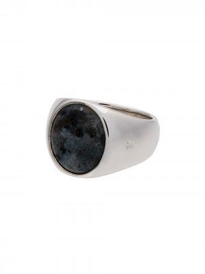 Серебряное кольцо Oval Larvikite с опалом Tom Wood. Цвет: серебристый