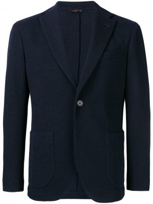 Classic single-breasted blazer Altea. Цвет: синий