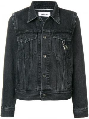 Джинсовая куртка Nobo AMBUSH. Цвет: черный