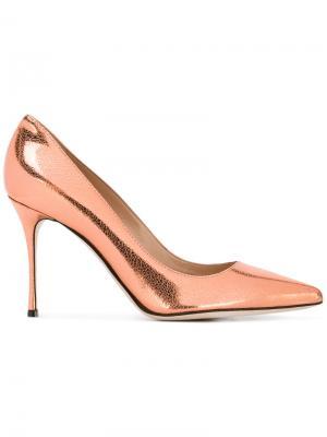Классические туфли-лодочки Sergio Rossi. Цвет: желтый