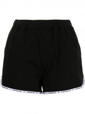 Спортивные шорты A BATHING APE®. Цвет: черный