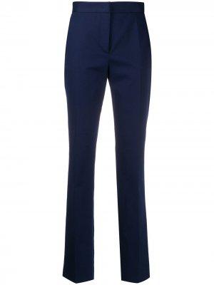 Зауженные брюки Alberta Ferretti. Цвет: синий