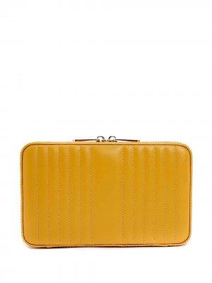 Шкатулка для украшений Maria WOLF. Цвет: желтый