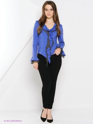 Блуза Artwizard. Цвет: синий