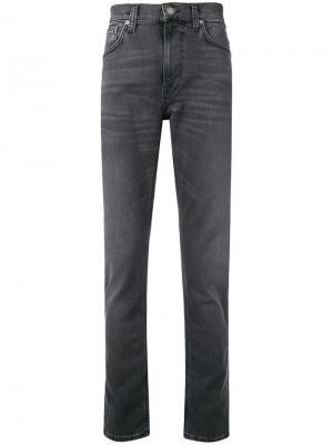 Classic slim-fit jeans Nudie Co. Цвет: серый