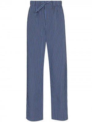 Пижамные брюки Verneuil в полоску TEKLA. Цвет: синий