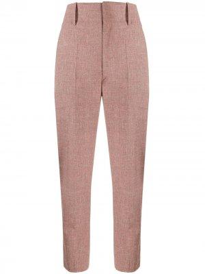 Зауженные брюки Noah из ткани шамбре Isabel Marant Étoile. Цвет: розовый
