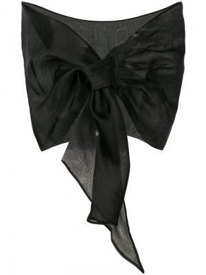 Прозрачный платок Le Petite Robe Di Chiara Boni. Цвет: черный