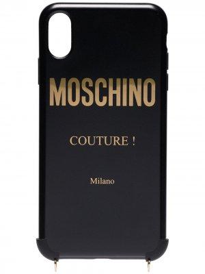 Чехол для iPhone X с цепочкой Moschino. Цвет: черный