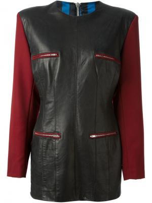 Платье с контрастными рукавами Jean Paul Gaultier Pre-Owned. Цвет: черный