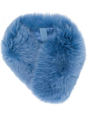 Меховой воротник N.Peal. Цвет: синий