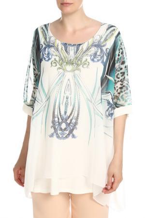 Блуза NATUREL. Цвет: белый