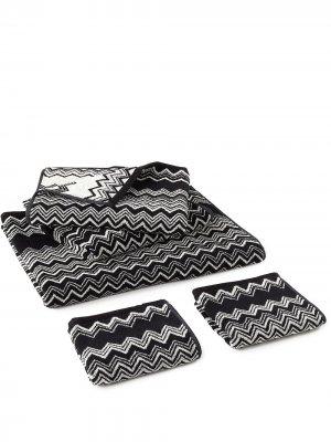 Комплект Keith из пяти полотенец Missoni Home. Цвет: черный