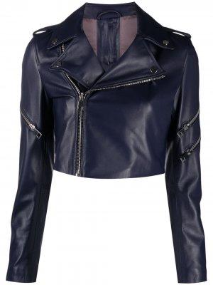 Укороченная куртка Manokhi. Цвет: фиолетовый