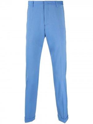 Узкие брюки строгого кроя PAUL SMITH. Цвет: синий