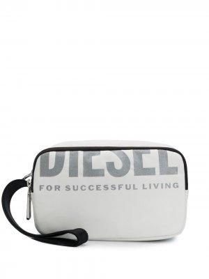 Косметичка с логотипом Diesel. Цвет: белый
