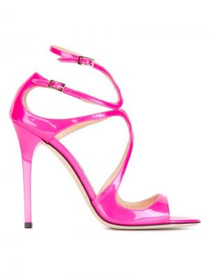 Босоножки Lance Jimmy Choo. Цвет: розовый и фиолетовый