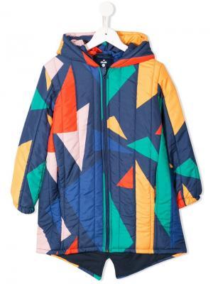 Дутое пальто дизайна колор-блок Bobo Choses. Цвет: разноцветный