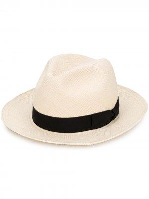 Шляпа с бантом Yohji Yamamoto. Цвет: нейтральные цвета