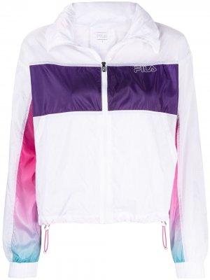 Спортивная куртка с эффектом градиента Fila. Цвет: белый