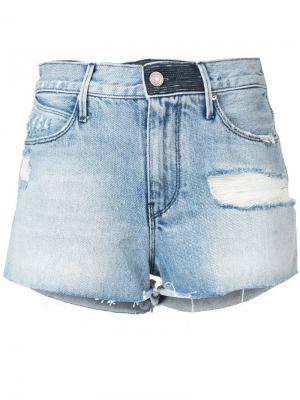 Джинсовые шорты Ace с высокой талией Rta. Цвет: синий