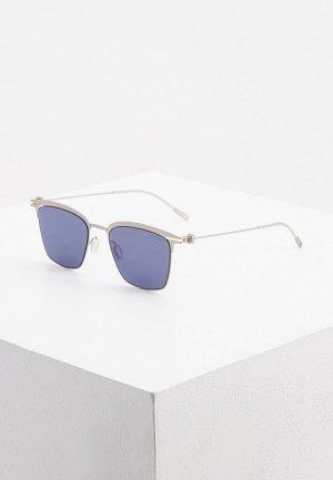 Очки солнцезащитные Montblanc. Цвет: серый
