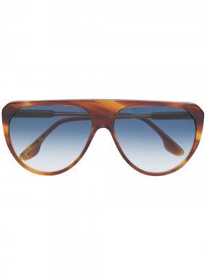Солнцезащитные очки-авиаторы VB600S Victoria Beckham. Цвет: коричневый