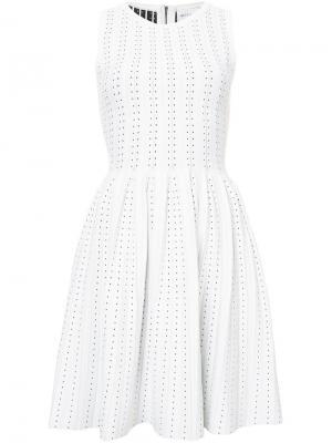 Платье в горох Milly. Цвет: белый