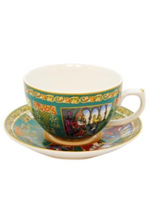 Чашка с блюдцем А.С.Пушкина Федерация. Цвет: зеленый