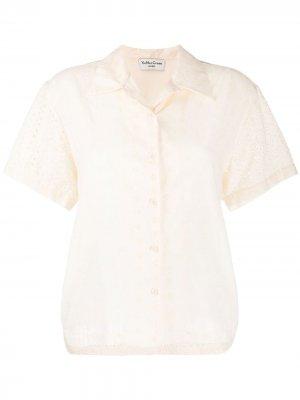Рубашка с английской вышивкой YMC. Цвет: нейтральные цвета