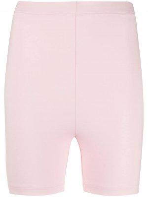 Спортивные облегающие шорты Styland. Цвет: розовый
