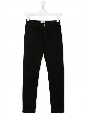 Прямые джинсы Dondup Kids. Цвет: черный