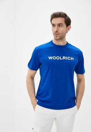 Футболка Woolrich. Цвет: синий