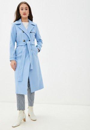Пальто Imocean. Цвет: голубой