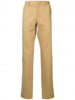 Классические брюки с высокой посадкой CK Calvin Klein. Цвет: коричневый
