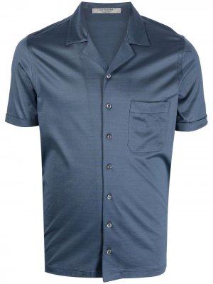 La Fileria For Daniello рубашка с короткими рукавами и заостренным воротником D'aniello. Цвет: синий