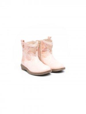 Ботинки с нашивкой Florens. Цвет: 2/2 carioca rosa