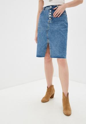 Юбка джинсовая Liu Jo. Цвет: синий
