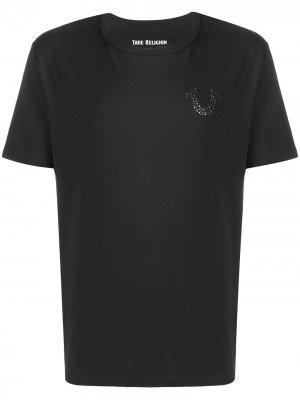 Рубашка с заклепками True Religion. Цвет: черный