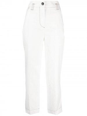 Укороченные брюки с завышенной талией Brag-wette. Цвет: белый