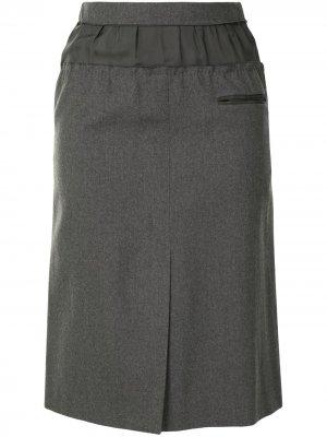 Юбка прямого кроя с эластичным поясом Louis Vuitton. Цвет: зеленый