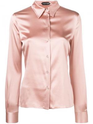 Рубашка узкого кроя Tom Ford. Цвет: розовый